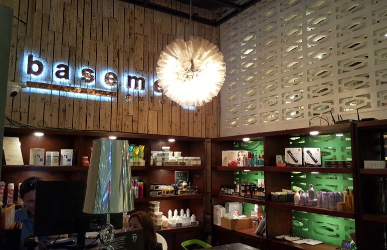 basement salon an urban oasis in sm aura franco laurel. Black Bedroom Furniture Sets. Home Design Ideas